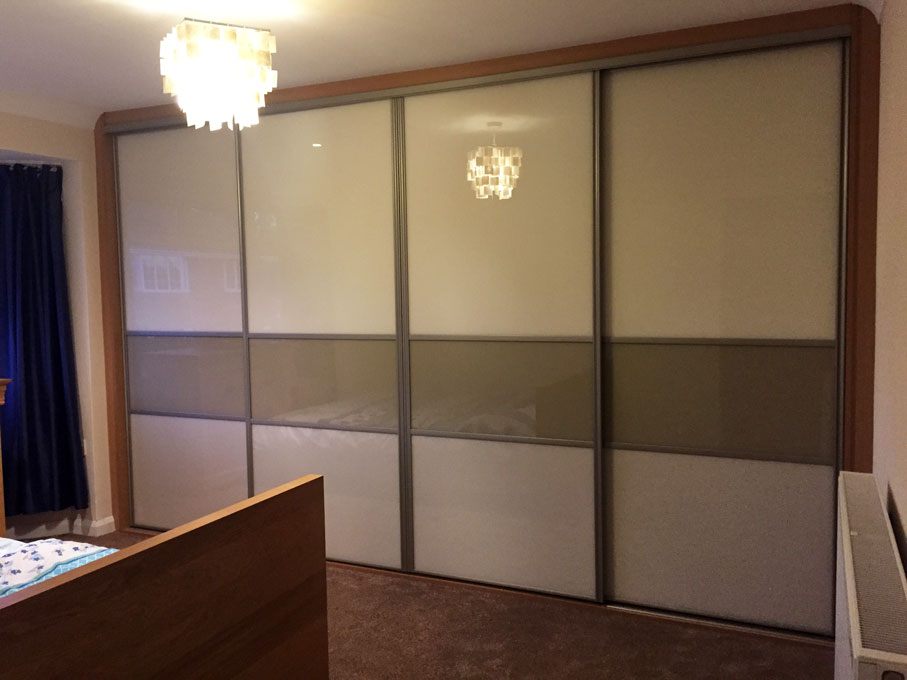 Platinum frame and multi-panel doors