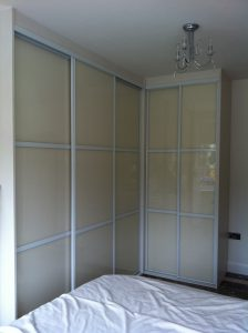 Five door corner wardrobe