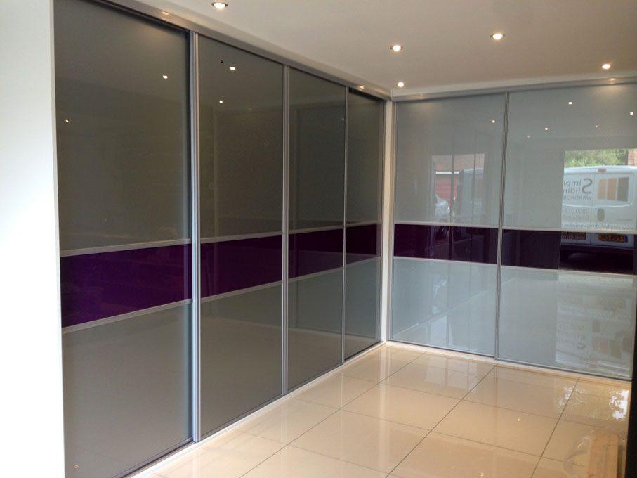 Corner Wardrobe in Silver frame and multi-panel doors