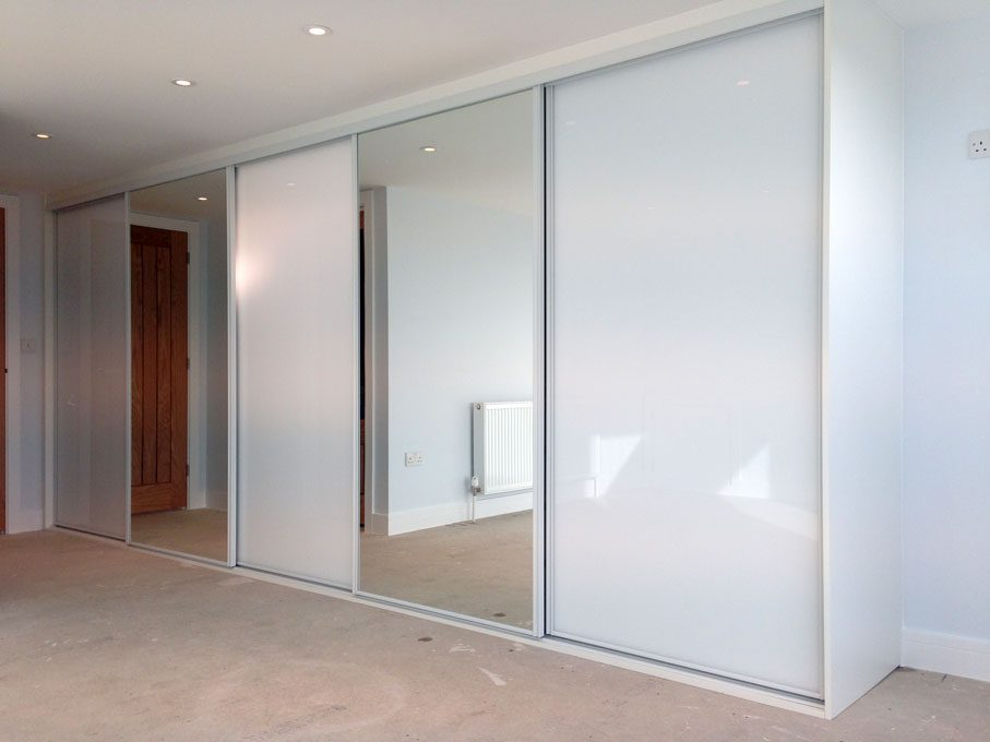 White frame and Pure White glass and Mirror doors