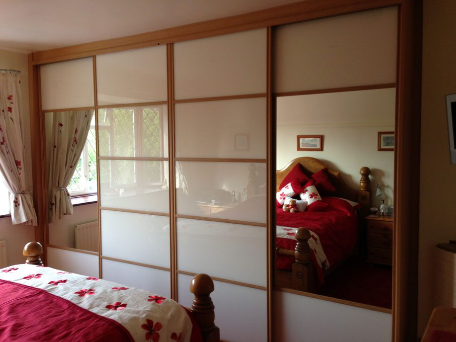 Oak frame and multi-panel doors