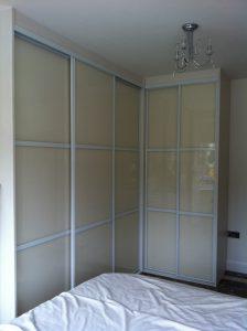 Five door corner wardrobe