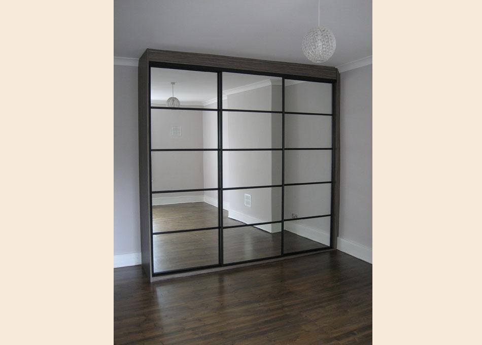 Oriental wardrobe black frame and mirror