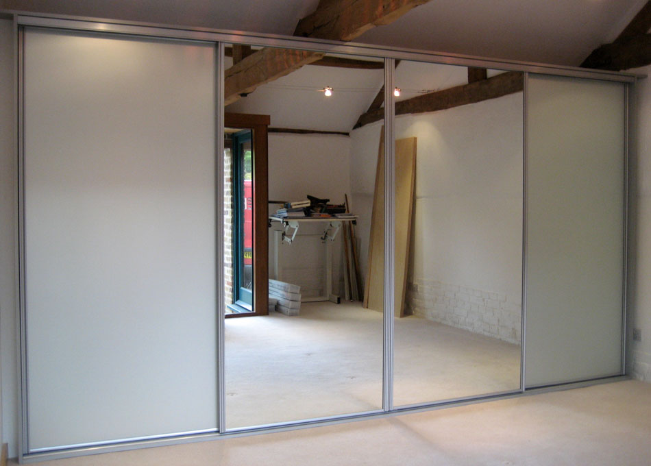 Silver frame mirror and frosted mirror