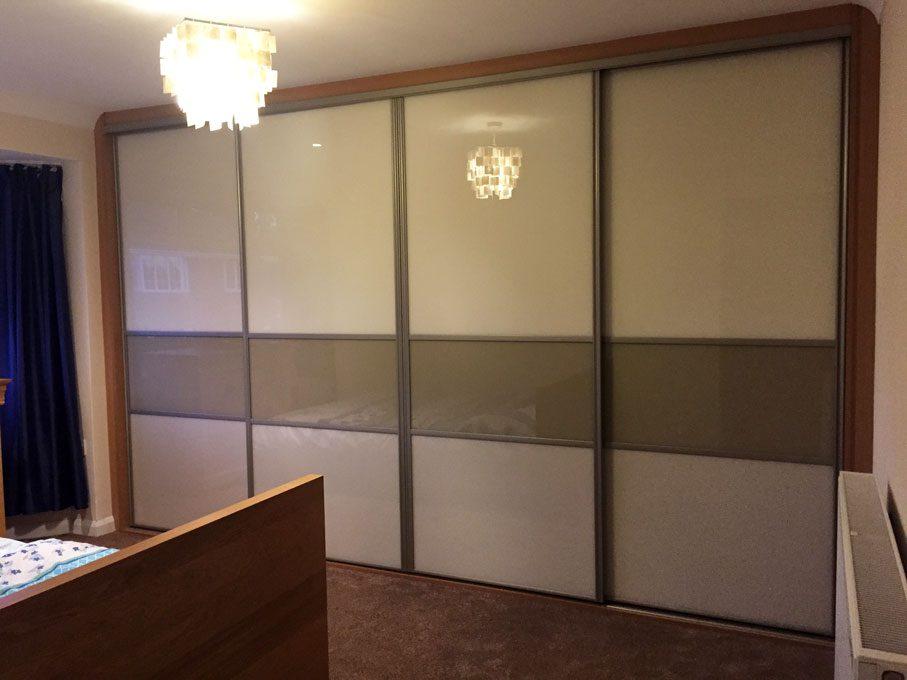 Platinum frame and multi-panel doors